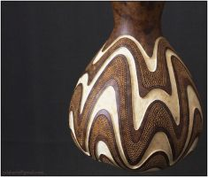 Hanging gourd lamp IV day 2 by Calabarte