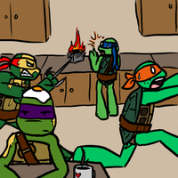 TMNT - usual start of the day by MetaLatias5