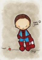 Poor Spidey Missing Mary Jane by eileenshige
