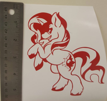 Vinyl Sticker - The reformed one  (the other one) by Breakfast-Tee