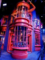 diagonally film set  harry potter studio weasleys by Sceptre63