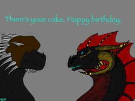 Gift-Here's Your D@mn Cake! by ShardianofWhiteFire