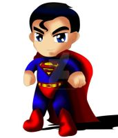 Superman Chibi by ExoroDesigns