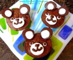 Chocolate bear cupcakes by The-Cute-Storm