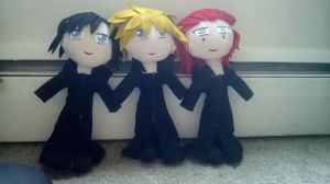 Kingdom Hearts Plushies by Craftn-Daly