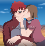 A smooch for the Kazekage by Gabychan91
