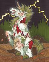 Zombie Unicorn Rises from the Grave by Allison-beriyani