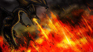 Dragon Fire - Wallpaper by Efirende