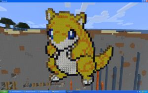 Sandshrew On Minecraft by Miccopicco