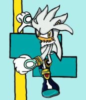 Silver the Hedgehog :Request: by Amy-pink