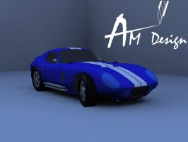 Shelby cobra daytona inspired Papercraft 3 by Alejandr0-M