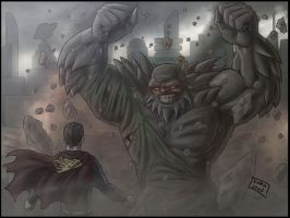 Superman-Doomsday v2 by Niggaz4life