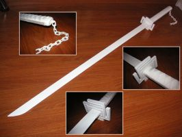 White Tensa Zangetsu // Bleach by Laitz