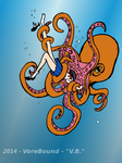 Serenity and the Octopus- Color *REQUEST* by vorebound