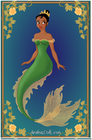 Tiana as a Mermaid by AidaPascal999