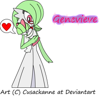 Pokeball School - Ms. Genevieve The Gardevoir by cusackanne