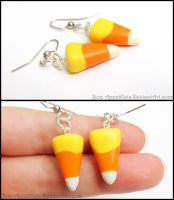 Candy Corn Earrings by Bon-AppetEats