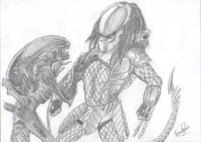 Typical AvP scene. by SweetyXenomorph