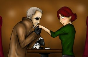 MGS -fic- : Meryl and Big Boss by V3R71CALH0R1Z0N