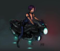 Motocycle cop by Jan-ilu
