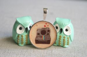 Polaroid Camera Pendant by MonsterBrandCrafts