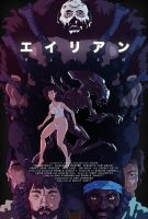 Alien poster - anime style by juhaszmark