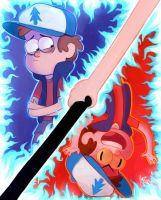 Dipper gravity falls in color by YankovskayaJulia