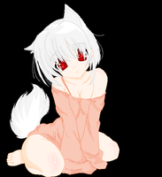 My lil wolf girl by Psychodownthestreet