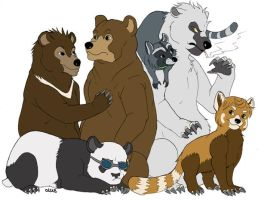 yamabuki as bears by edface