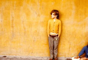 Boy in gold sweater by photoart1