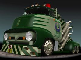 1956 Ford F500 Tow Truck 5 by CWRudy
