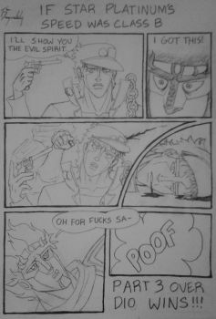 What if Star Platinum's speed was class B? by DragonLindy
