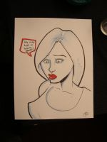Marker sketch...some chick by phillip-r