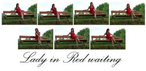 Lady in Red - waiting by syccas-stock