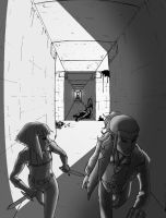 Down The Hall by The-Great-Kubo