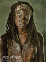The Walking Dead: Michonne: Oil Paint Re-Edit by nerdboy69