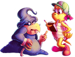 Collab - Kylie Koopa and Wizenheimer by Turquoisephoenix