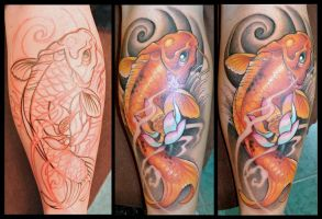 freehand koi by KisBrigi