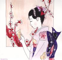 Geisha in Pink by HanyouInny