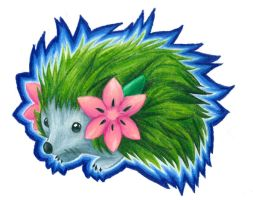 Realistic Pokemon: Shaymin the hedgehog by Awkward-Hermit