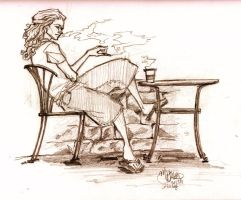 Guy at the coffee place by mickeythewicked