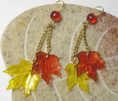 Falling Maple earrings by jamberry-song
