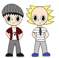 Chibi - Dave and Tim by ApocalypseWii