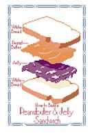 Peanutbutter  Jelly Sandwich Cross Stitch Pattern by rhaben
