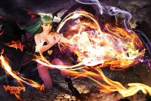 Darkstalkers Morrigan Soulfist by VampBeauty