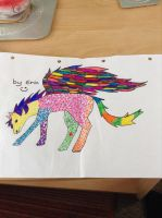Colourful Pegasus thing by starling1700