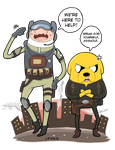 Adventure Time, Finn and Jake (RE6) by toastmesilly