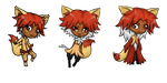 Fennekin Evolution Adopts Group [OPEN][SALE] by Explodifirer