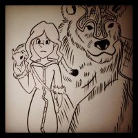 Sketch 18: Lyra from The Golden Compass by pascalscribbles
