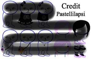 [P2U] Pastel goth Homestuck Sprite Outfits #2 by Pastellilapsi